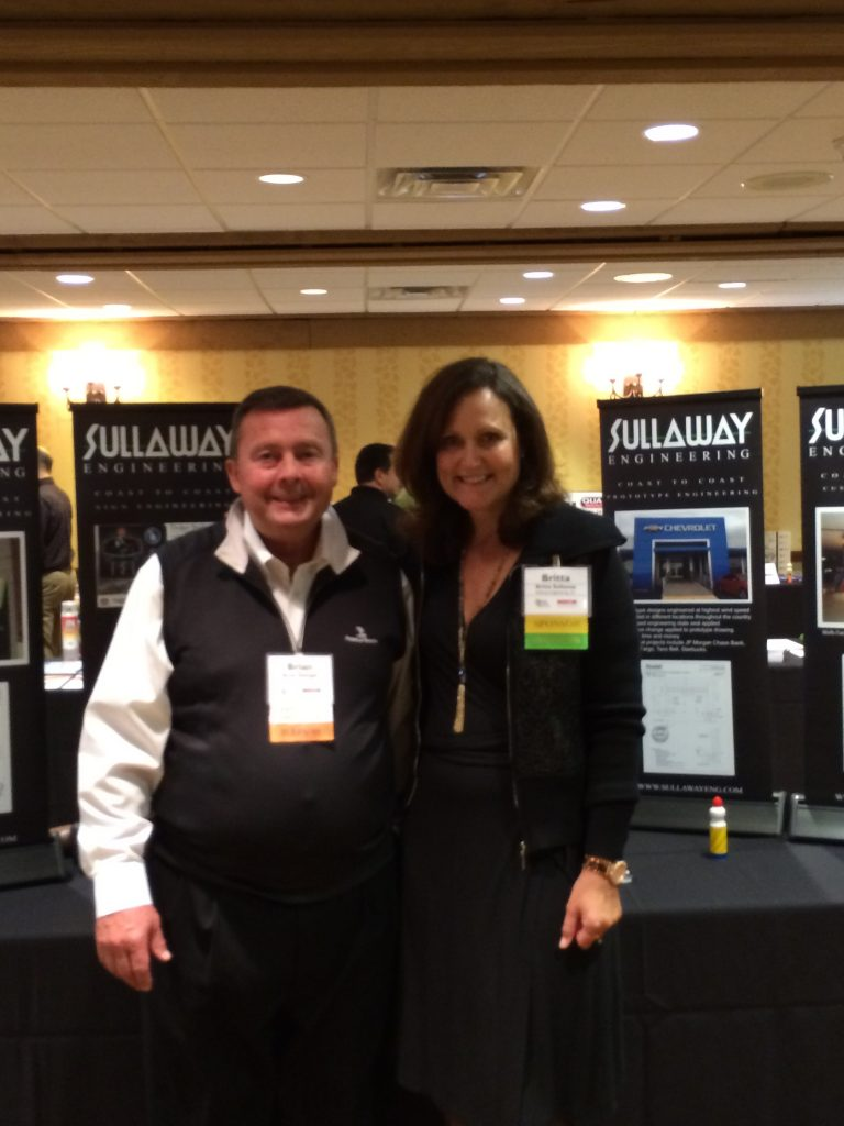 Brian Swingle, Executive Director of Illinois Sign Association pictured with Britta Sullaway.