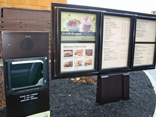 Starbucks Menu Board Speaker Post & Clearance Bar Prototype