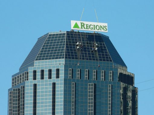Regions Bank High-Rise Sign