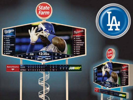 Los Angeles Dodgers Scoreboard