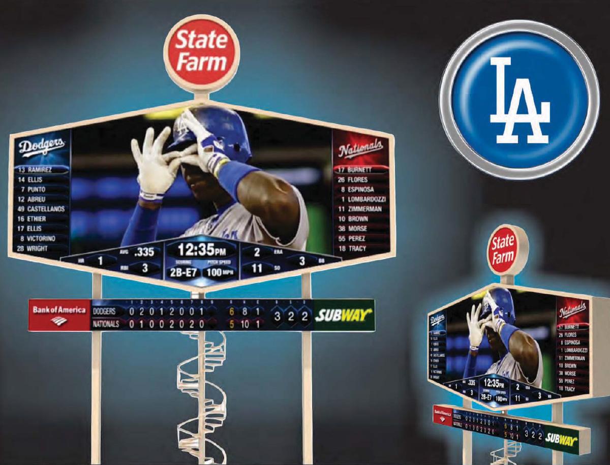 Los Angeles Dodgers Scoreboard Sullaway Engineering Inc